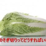 白菜の切り方「そぎ切り」って何?鍋にするならどんな切り方?!
